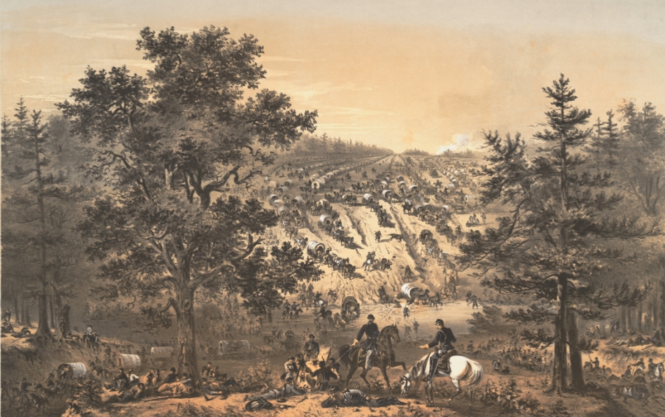 Retreating Army of the Potomac