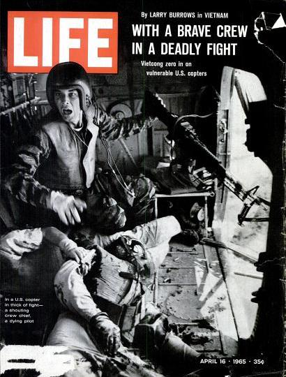Life Magazine 1965 apr 16 US MARINES UNDER FIRE/VIETCONG: HELICOPTER YANKEE PAPA